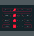 pagination bar page navigation web buttons vector image