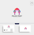 palace brush paint logo template icon elements vector image