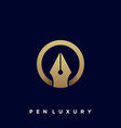 pen luxury template vector image