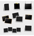 photo frame big set with transparent background vector image vector image