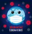 planet in guard mask quarantine coronavirus vector image