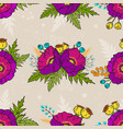 poppy seamless pattern vector image