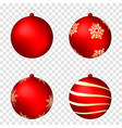 realistic christmas balls isolated on transparent vector image vector image