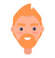redhead male character avatar userpic vector image vector image