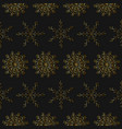 royal vintage seamless pattern with snowflakes vector image