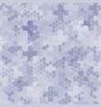 seamless hex digital arctic snow spot camo texture vector image vector image