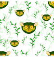 seamless tarsier vector image vector image
