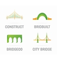 set of bridge logo design elements vector image