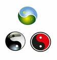 set of yin-yang circle icon download vector image vector image