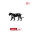 tiger icon vector image vector image