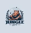 tigress lies in jungle vector image