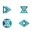 triangle business logo and symbols app template vector image vector image