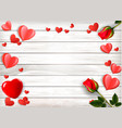 valentines day holiday background with red roses vector image