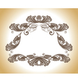vintage decoration vector image vector image