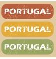 Vintage Portugal stamp set vector image vector image