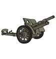 Vintage sand cannon vector image vector image