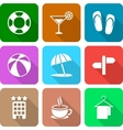White Travel Icons with Long Shadows Vol 3 vector image