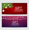 winter year gift voucher template vector image