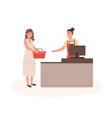 woman at mall checkout flat vector image vector image