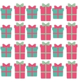 green and pink gift boxes with bow seamless vector image