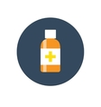 Flat Medical Syrup Bottle Icon vector image
