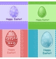 Set of Easter greetings card vector image