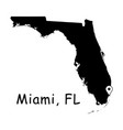 1309 miami fl on florida state map vector image