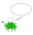 A funny cartoon octopus in a chef hat vector image vector image