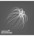 Abstract 3d Illuminated distorted Mesh Sphere vector image vector image
