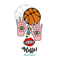 abstract of basketball player vecor vector image