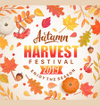 autumn harvest festival banner vector image vector image