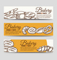 bakery horizontal banners template vector image