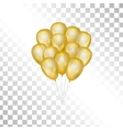 Balloons on transparent background vector image vector image