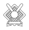 baseball ball and bats vector image vector image