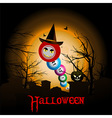 Bingo balls with Halloween hat background vector image vector image