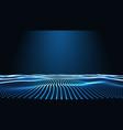 Blue landscape background cyberspace landscape vector image