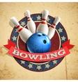 Bowling Emblem Background vector image