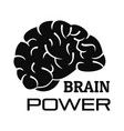 brain power logo simple style vector image vector image