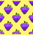 bunch of purple grapes seamless pattern with a vector image