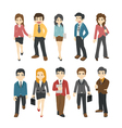 Businessman and woman eps10 format vector image vector image