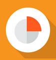 circle graph icon flat symbol premium quality vector image