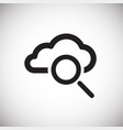 cloud storage search on white background vector image