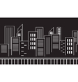 Collection stock city silhouettes vector image