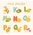colorful fruit alphabet vector image vector image