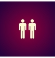 couple icon Flat design style vector image vector image