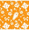 Creepy cartoon Halloween texture vector image vector image
