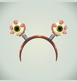 creepy halloween hairband with eyes in hands vector image vector image