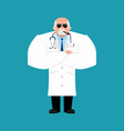 doctor strong serious powerful physician vector image