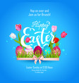 easter holiday lettering vector image