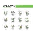 Farm animals - line design icons set vector image vector image